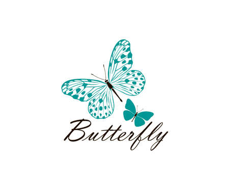 icon of butterflies isolated on white background 일러스트