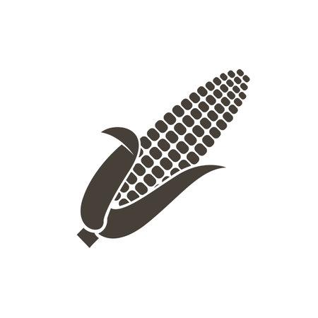 monochrome corncob icon isolated on white background 向量圖像