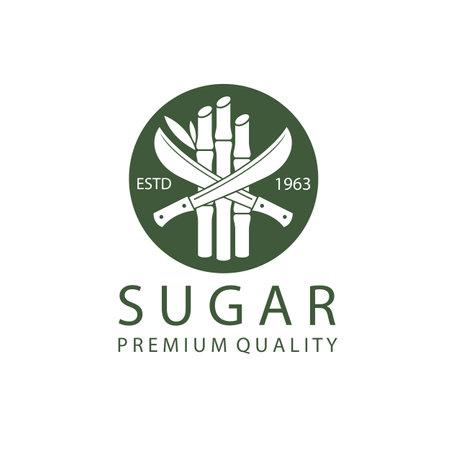 cane sugar production emblem isolated on white background 向量圖像