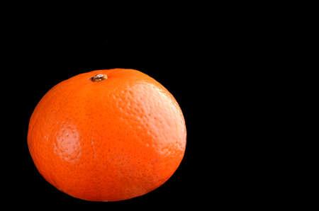 Orange isolated on black
