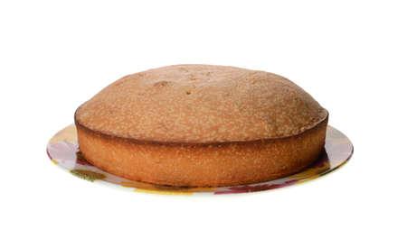 big cake isolated on a white background Stock Photo