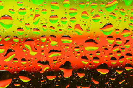 water reflection: Reflection of abstract colors on the water droplet Stock Photo