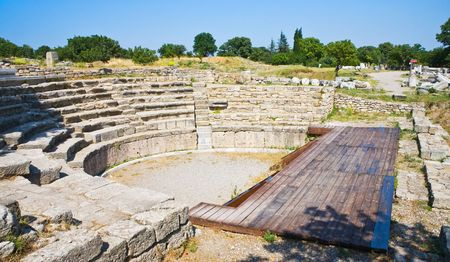 legendary: Ancient theatre in legendary Troy, Turkey
