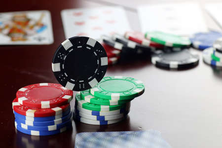 colore: poker chips Cards
