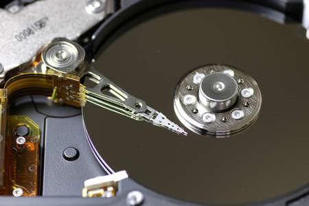 hard disc drive repair macro texture part Stock Photo