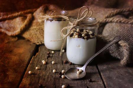 rustic: rustic homemade yogurt