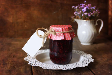 rustic: rustic homemade jam Stock Photo