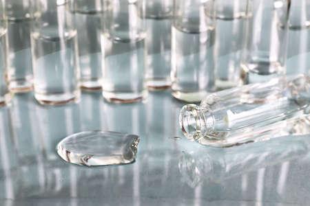 vials: transparent vials of medicine