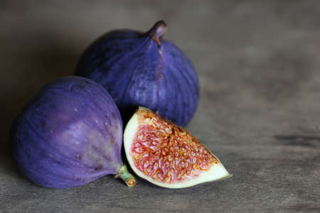 fig fruit: Fresh healthy  fig fruit on table