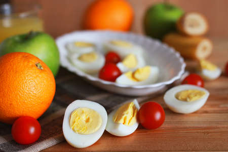 replenish: morning a healthy and wholesome breakfast to replenish reserves of energy for the whole day Stock Photo