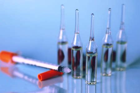 ampoule: ampoule medical syringe Stock Photo