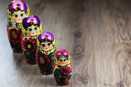 Matryoshka Russian traditional doll empty inside which is still the same but smaller