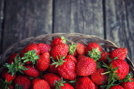 chessman: a fresh crop of delicious red ripe juicy strawberries on nature
