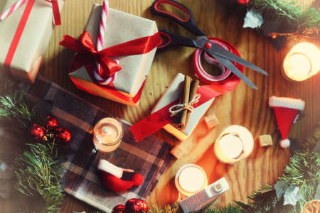 Silvestrovská oslava balíček dárky a podpis vaření slavnostní nápoje