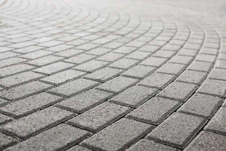 grijs keien op straat looppad droge zonnige dag