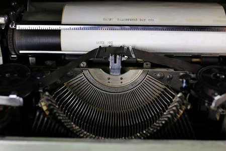 retro gray typewriter letter