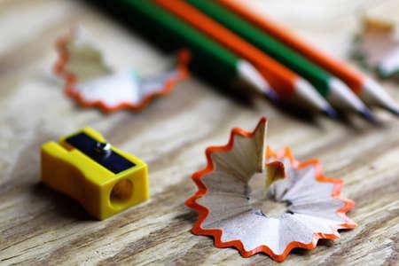 sacapuntas: lápiz de madera afilador de basura