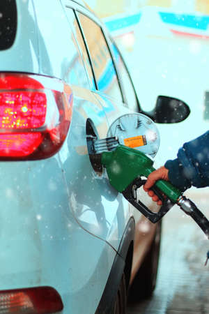 refueling: Car refueling of gasoline