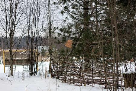 rustic: rustic village in winter