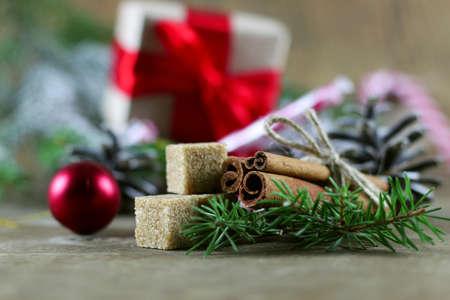 sugar cone: cinnamon sugar pine cone Christmas tree Stock Photo