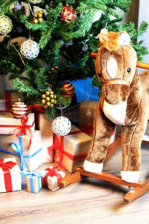 gift with christmas ball Stock Photo