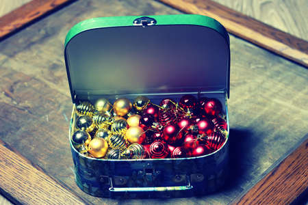 golden section: small red ball in a box