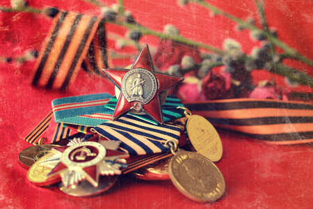 ninth: Retro effect on medals composition from Great Patriotic War