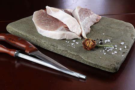 medium: steak in a frying pan Stock Photo