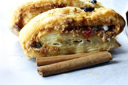 cin: Puff pastry cinnamon raisin Stock Photo