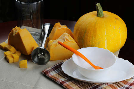 Pumpkin soup cooking
