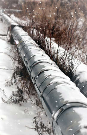 'main squeeze': gas pipe transite snow winter