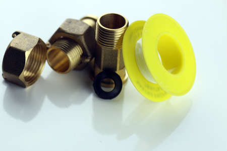 metal strong bronze sleeve colors for plumbing needs Stock Photo