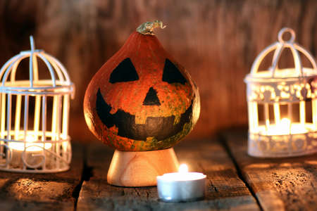 soothsayer: preparation of various decorations and attributes for the celebration of the international holiday of Halloween