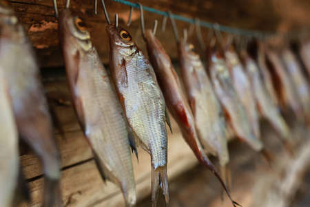 stockfish: fish prepared on a rope for the impact of traditional food and snacks peoples of the north