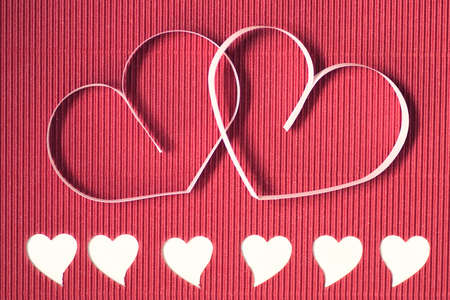 festive background and pozdravtelnaya card ornaments for the celebration of Valentines Day