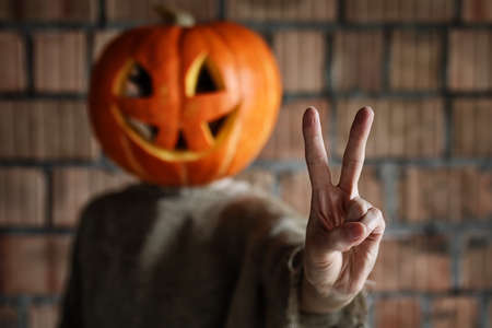 foda: preparation of various decorations and attributes for the celebration of the international holiday of Halloween