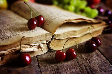 novel: various vintage elements on old worn backgrounds different concepts