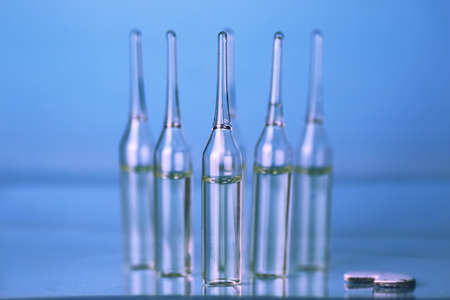 ampoule: medical equipment tubes and vials for injection and vaccinations