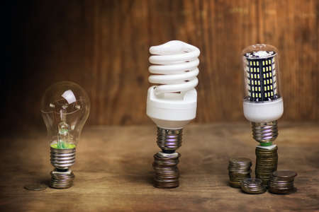 emergence: very significant concept of energy saving and the emergence of new ideas Stock Photo