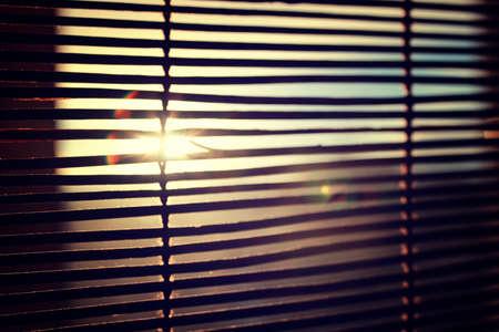 jalousie: sun shining through the blinds