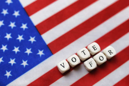 election simbol on usa flag Stock Photo