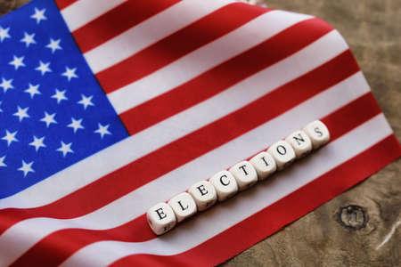 election simbol on usa flag Stock Photo