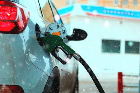 refueling: Car refueling gasoline