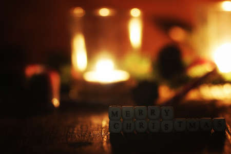 gingerbread: xmas wood candle