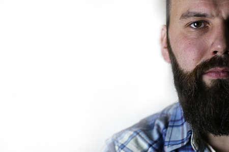 30 s: portrait of a mans beard