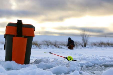 Little winter fishing rod ice