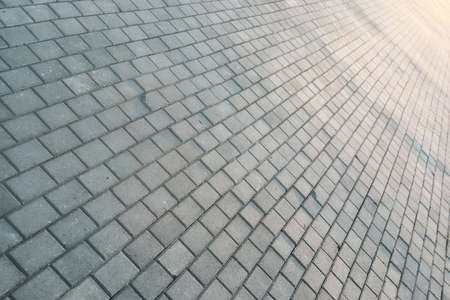 paving stone path goes away the prospect in the sunset