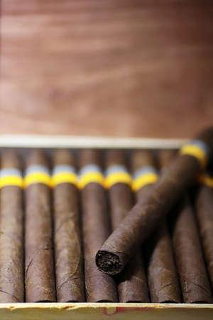 large wooden box of cigars handmade Cuban production