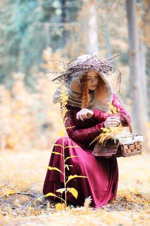 eye ball: Fortune-teller conducts a ritual autumn