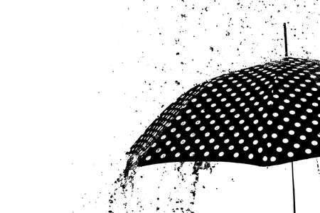 rain drop on umbrella isolated background weather concept